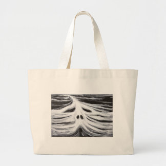 The Head of Leviathan (black and white surrealism) Canvas Bag