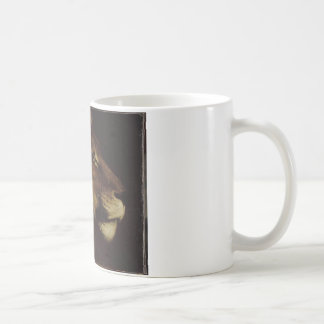 The head of lion by Theodore Gericault Basic White Mug