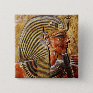 The head of Seti I  from the Tomb of Seti 15 Cm Square Badge