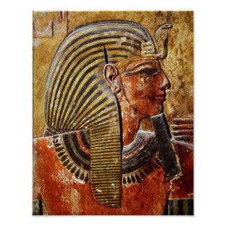 The head of Seti I  from the Tomb of Seti Poster