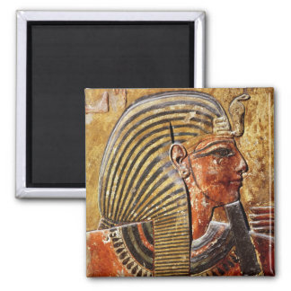 The head of Seti I  from the Tomb of Seti Square Magnet