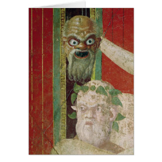 The Head of the Elderly Silenus Card