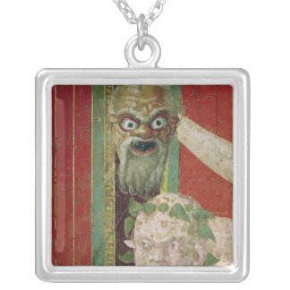 The Head of the Elderly Silenus Silver Plated Necklace
