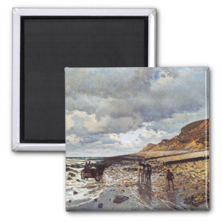 The Headland of the Heve at Low Tide Claude Monet Square Magnet