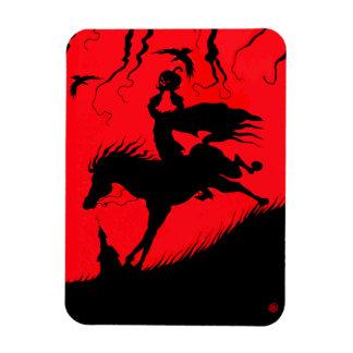 """The Headless Horseman"" Halloween Photo Magnet"