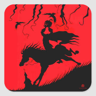 """The Headless Horseman"" Halloween Stickers"