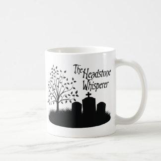 The Headstone Whisperer Basic White Mug