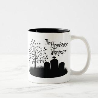 The Headstone Whisperer Two-Tone Mug