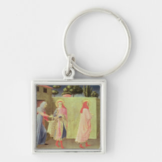 The Healing of Palladia Silver-Colored Square Key Ring