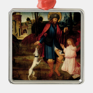 The Healing of Saint Roch Silver-Colored Square Decoration