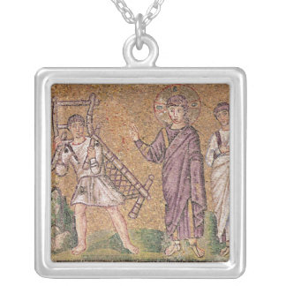 The Healing of the Paralytic of Capernaumx Silver Plated Necklace