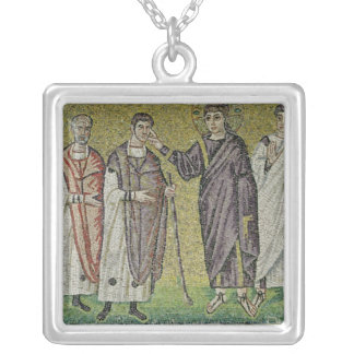 The Healing of Two Blindmen from Jericho Silver Plated Necklace