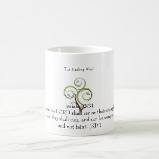 The Healing Word Classic White Mug- Isaiah 40:31 Coffee Mug