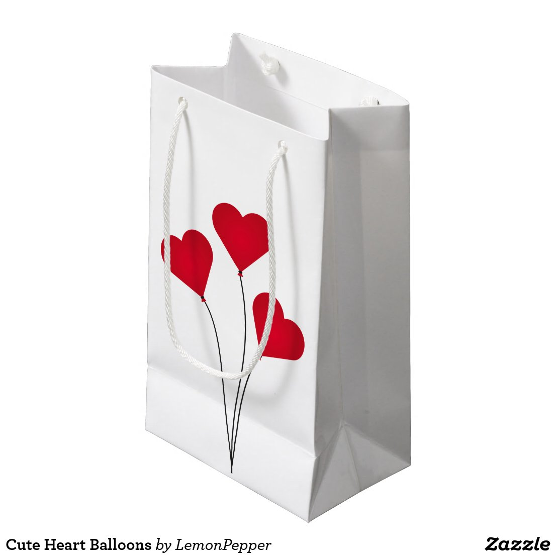 The Heart Balloons Small Gift Bag