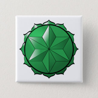 The Heart Chakra 15 Cm Square Badge