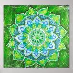 The heart chakra green loving energy centre aura