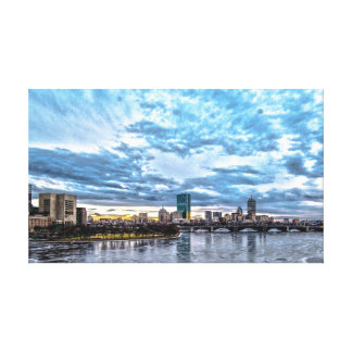 The Heart of Boston Canvas Print