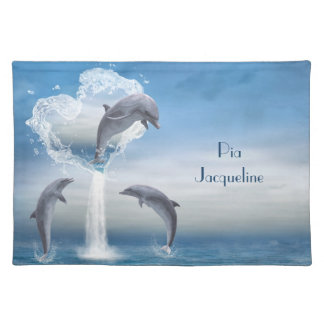 The Heart Of The Dolphins Placemats