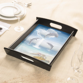 The Heart Of The Dolphins Serving Tray