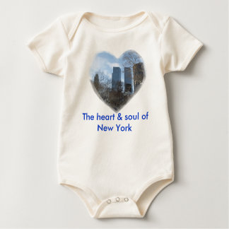 The heart & soul of New York Baby Bodysuit