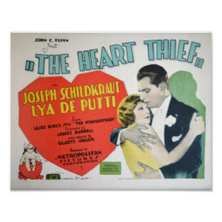 'The Heart Thief' Vintage Classic Movie Poster