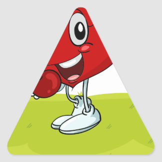 the heart triangle sticker