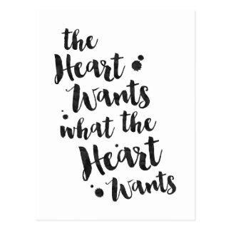 The Heart Wants - Inspirational Card