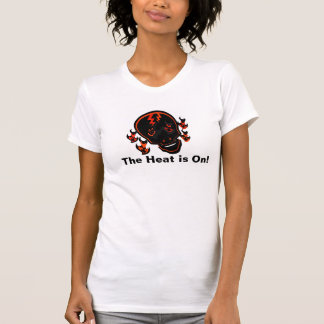 """""""The Heat is On"""" Flaming Skull Print T-Shirt"""