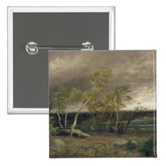 The Heath in a Storm, 1896 15 Cm Square Badge