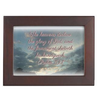 The Heavens Declare His Glory Keepsake Box