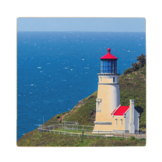 The Heceta Head Lighthouse Near Florence Wood Coaster