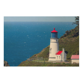The Heceta Head Lighthouse Near Florence Wood Wall Art