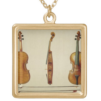 The Hellier violin made by Antonio Stradivarius (c Gold Plated Necklace