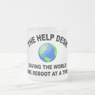 The Help Desk - Saving The World Frosted Glass Mug