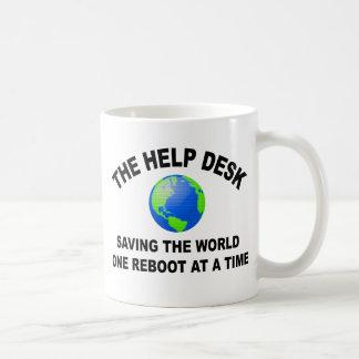 The Help Desk - Saving The World Classic White Coffee Mug