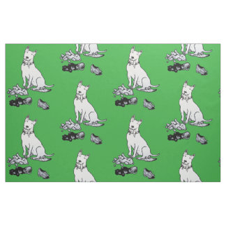 The Helpful Bull Terrier Fabric