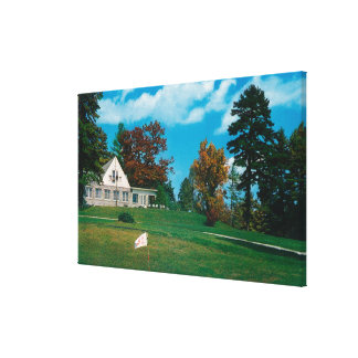 The Hendersonville Country Club House Stretched Canvas Prints