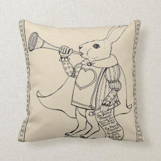 The Herald Rabbit from Alice in Wonderland Cushion