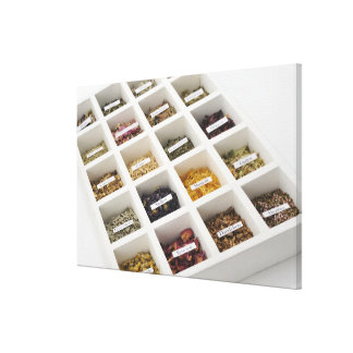 The herbs which a box contains canvas print