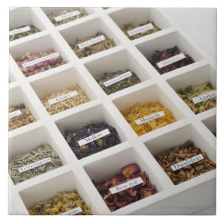 The herbs which a box contains tile