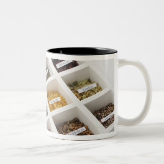 The herbs which a box contains Two-Tone coffee mug