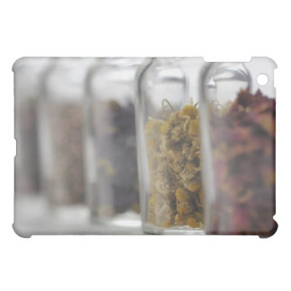 The herbs which a glass bottle contains case for the iPad mini