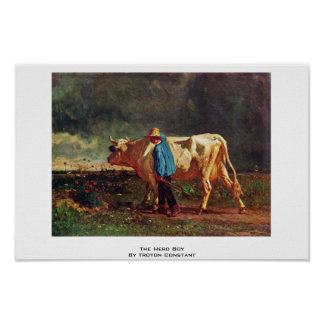 The Herd Boy By Troyon Constant Print
