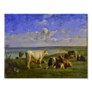 The herd, Constant Troyon Poster