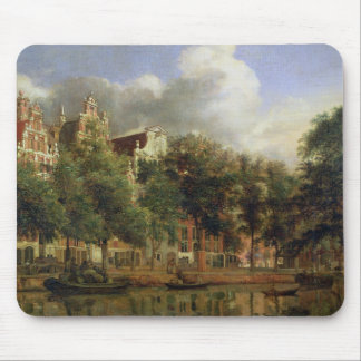 The Herengracht, Amsterdam (oil on panel) Mouse Mat