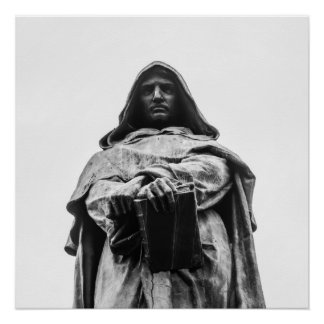 The heretic Giordano Bruno Poster