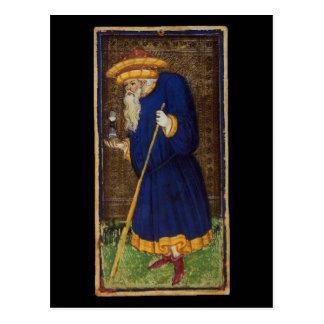 The Hermit Tarot Card Postcard