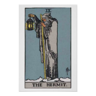 The Hermit Tarot Card Poster