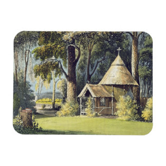 The Hermitage, from Ackermann's Repository of Arts Rectangular Photo Magnet