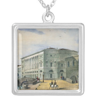 The Hermitage Theatre as Seen from Vassily Silver Plated Necklace